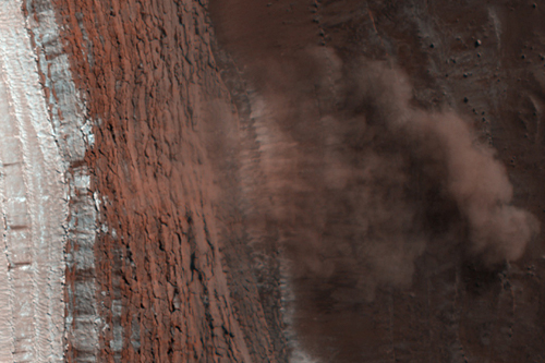 Avalanches on North Polar Scarps of Mars